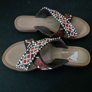 Chinese Laundry embroidered/beaded sandal - NWOT